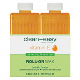 Clean & Easy Vitamin E Wax Refills Large, 6 Pack