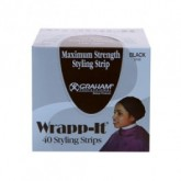Graham Wrapp-it Styling Strips Black (40 Strips Per Pack)