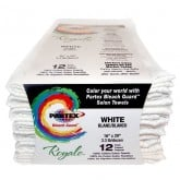 Partex Royale Bleach Guard  White Towels, 12 Pack