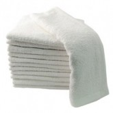 Partex Essentials White Towels, 12 Pack