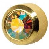 Studex Gold Plated Bezel Set Rock Crystal