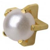 Studex Gold Plated Tiffany Set Earrings, Regular Pearl