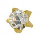 Studex Gold Plated Tiffany Set Mini Cubic Zirconia