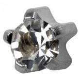 Studex Stainless Steel Tiffany Set Cubic Zirconia (PR-R100W)