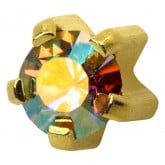 Studex Gold Plated Regular Rainbow Crystal