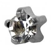 Studex Stainless Steel Silver Mini Tiffany Cubic Zirconia