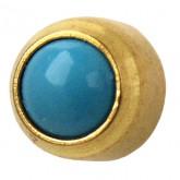 Studex Gold Plated Bezel Set Turquoise