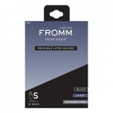 Fromm Color Studio Reusable Black Latex Gloves, 12 Pack
