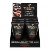Woody's Charcoal Peel-Off Face Mask, 6 Piece Display