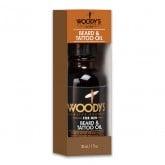 Woody's Beard & Tattoo Oil, 1 oz